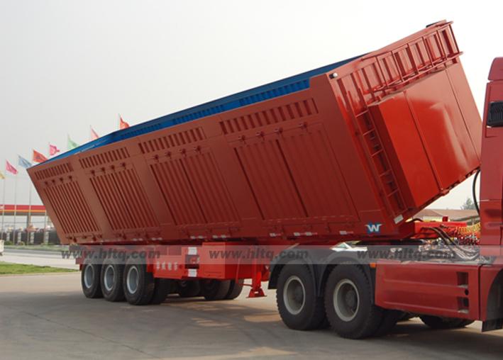 Rollover dump semi trailer