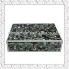 Belle boite de rangement MOP noire faite à la main pour un hôtel de luxe