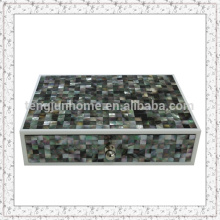 Beautiful Handmade Black MOP Storage Box for Luxury Hotel