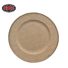Linen Surface Plastic Charger Plate