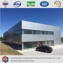 Edifício pré-fabricado da administração do quadro do metal