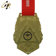 Custom Brazilian jiu jitsu tournament metal gold brass medals