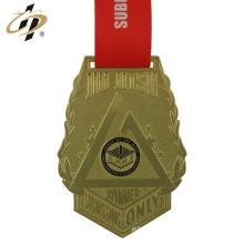 Medalhas de latão de ouro de metal de torneio de jiu jitsu personalizado brasileiro