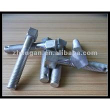 customized stainless steel pentagon screw with a hole
