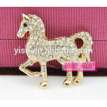 Belo pônei cavalo cristal moda broche animal
