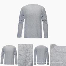 Homens em volta do pescoço manga comprida 100% Top Grade Pure Cashmere Sweater