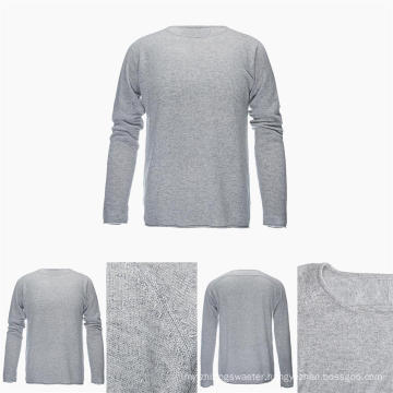 Men′s Round Neck Long Sleeve 100% Top Grade Pure Cashmere Sweater