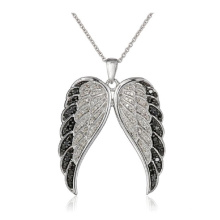Hot Sale 925 Sterling Silver Wing Pingentes Jóias Colar