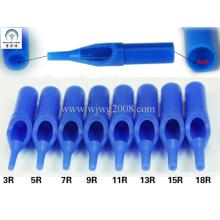 Одноразовые татуировочные пластиковые короткие наконечники - 50 мм Blue R