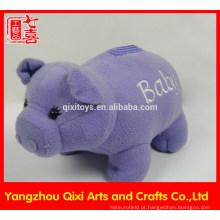 Brinquedos 2015 personalizado brinquedo de pelúcia de pelúcia animal caixa de dinheiro porco caixa de dinheiro