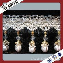 China Classic Beads Trims Beads Fringe Curtain Lace Sequin Tassel Fringe Trim