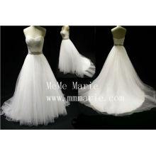 Sweetheart effel rhinestone sash wedding dress BYB-14592
