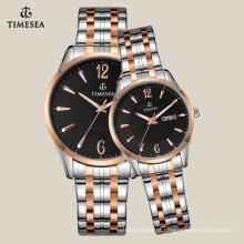 Relógio de pulso de aço inoxidável traseiro 70020 da caixa de relógio do ouro de Rosa