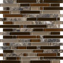 Mosaico de pared de superficie natural irregular, Mosaico de piedra de mármol beige