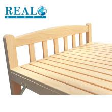 Alta qualidade boa sólida mobília do quarto de madeira portátil cama dobrável