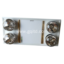 Celling Mounted LED Fan Bathroom Master with 4 Hard Explosion-proof Bulb
