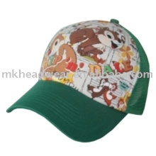 kids cute print mesh cap
