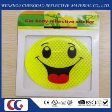 Etiquetas engomadas de la sonrisa reflectante de alta visibilidad para uso de estudiantes