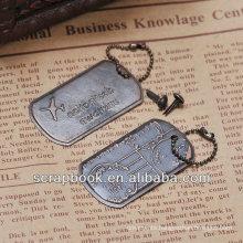 antique metal tags metal charm scrapbook