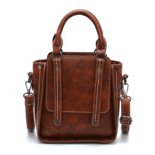 Vintage PU Leather Women Office Travel Hand Bag