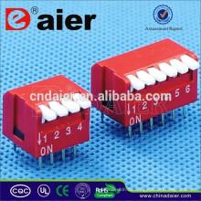 Daier rot / blau 1 ~ 12 Position Kunststoff Klavier Typ DP-Serie Dip-Schalter Fernbedienung