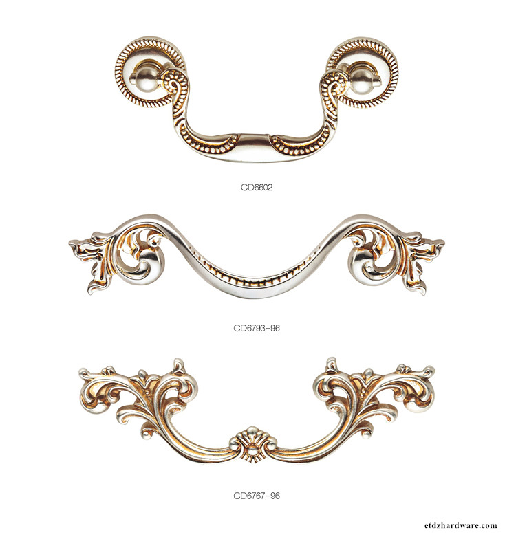 Classic Zinc Alloy Cabinet Handle For Dresser Pull