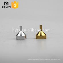 Funil de Dispensação de Perfume Mini Aço e Prata