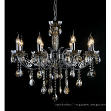2017 New Style Home Decor Lustre en cristal noir pour l'entrée