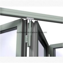 Système breveté de suspension supérieure Porte pliante en aluminium