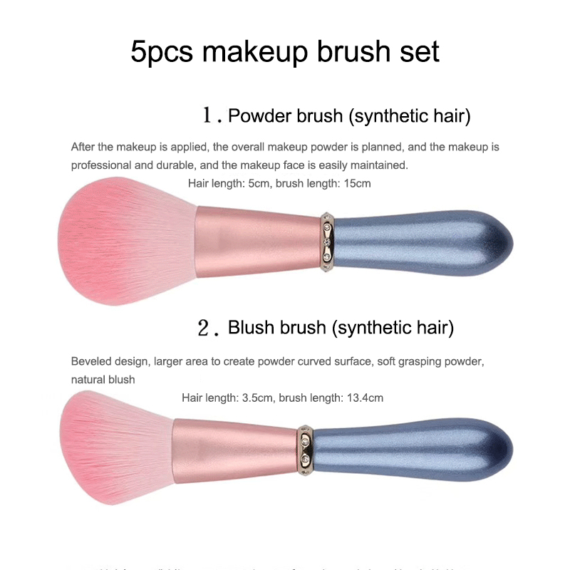 5pcs makeup brushes set