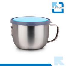 Multifunções de aço inoxidável isolados copo e Fast Food Cup com tampa