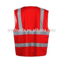 Gilets de sécurité ENISO 20471 veste standard, gilets réfléchissants de circulation fluorescents fluorescents