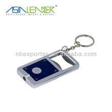 Pocket mini led keychain light with bottle opener