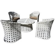 Patio Aluminium Garden Table Furniture White Tables