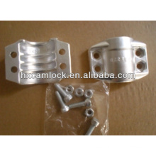 Stainless steel or Aluminum pipe safety clamp