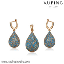 64201 wholesale turkish jewelry accessories fashion elegant beautiful 18k gold plated jewelry sets