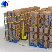 Ahorro de espacio Almacenamiento de almacenes Sistemas de estantería de paletización móvil