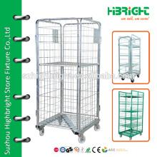 Faltender Hochleistungsdraht-Mesh-Rollencontainer (500kg)