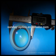 CaF2 Plano lentille convexe 12.7mm