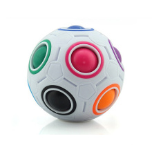 Superstarer Educational Small Football 12-Hole Decompression Intellectual Toy Fingertip Cube Magic Rainbow Ball