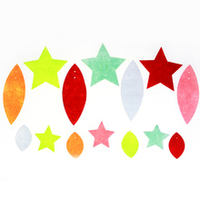Star assortment felt decoration