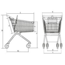 Supermarkt Metall Warenkorb mit Aufzug Räder