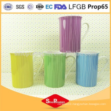 10OZ. New Bone China Mug with Lines for BS131203F