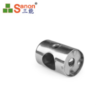 SS304 stainless steel handrail tube connector perpendicular joiner for pipe 12mm/16mm