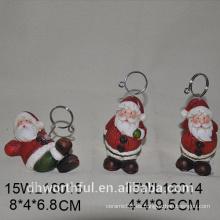 Navidad santa claus titular de la tarjeta de cerámica