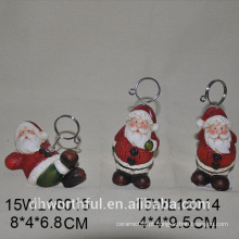 Natal santa claus cerâmica cartão titular