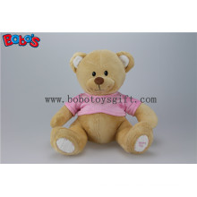 "11"" Super Cute Plush Brown Baby Bear Toy with Pink T-Shirt"