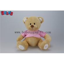 """11 """"Супер милый плюшевый коричневый Baby Bear игрушка с розовой футболке"""