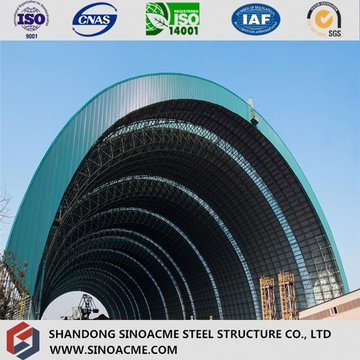 Hangar de aeronaves estruturais de qualidade em arco com painel PU
