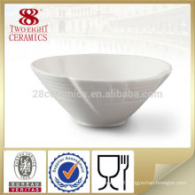 Chaozhou small plain cheap ceramic round bowl for hotel